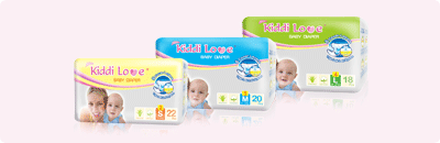 Kiddi Love Baby Diaper - Transparent Pack